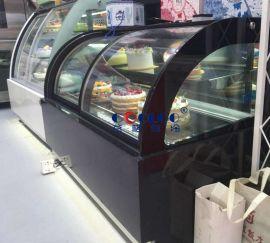 蛋糕柜保鲜柜 前开门西点慕斯芝士冷藏展示柜蛋糕除雾柜