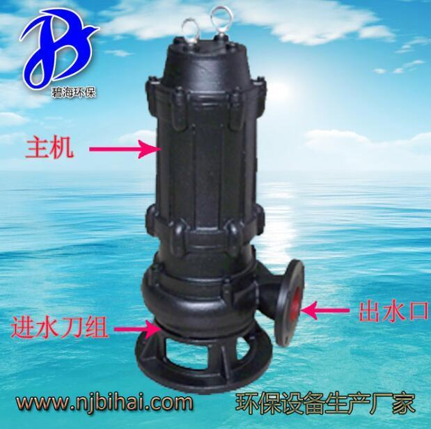 雙絞刀泵2.2KW 污水處理廠專業泵 粉碎雜物泵