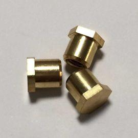 注塑用铜螺母/CNC自动车床螺母/滚花铜螺母定制