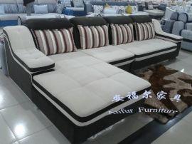 安福尔家具转角沙发布艺沙发休闲沙发客厅沙发顡色尺寸大小可订做