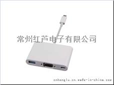 厂家直销USB TYPE-C to VGA 转换接口