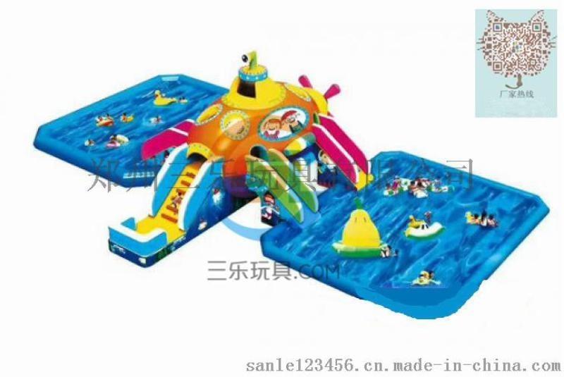南陽水上樂園戶外移動支架游泳池充氣水池