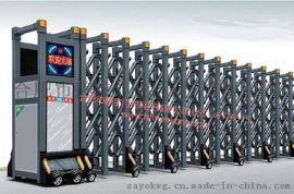 不鏽鋼伸縮門 防盜電動伸縮門 廠房小區伸縮大門