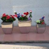 不鏽鋼花盆家居飾品 金屬小花瓶