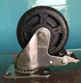 4寸不锈钢活动刹车耐高温脚轮 厂家直销