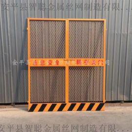 现货施工电梯门 大楼升降梯安全门 铁丝网工地电梯门