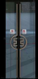 中国**专用玻璃门不锈钢拉手.红古铜表面高清图