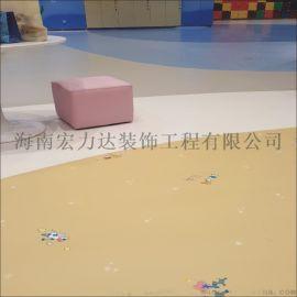 三亚塑胶拼图地板,无缝拼接,平直光滑,粘接牢固