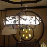 新中式鄉村仿古鐵藝吊燈餐廳咖啡廳金色臥室樓梯吊燈