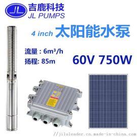 直流太阳能潜水泵深井抽水灌溉750W光伏水泵系统