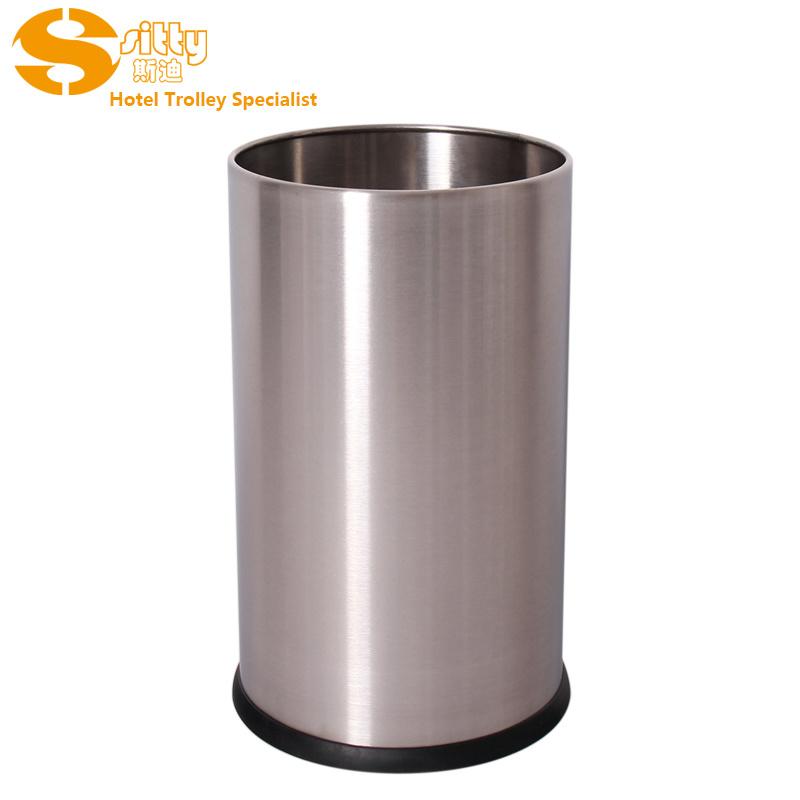 专业生产SITTY斯迪200SA砂光无焊缝不锈钢圆形客房桶/垃圾桶