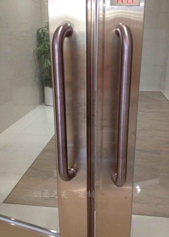 U型推拉门不锈钢亮光拉手玻璃大门把手木门大拉把定制