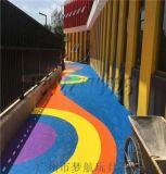 室外學校幼兒園預製型彈性橡膠跑道EPDM橡膠顆粒減震墊環保地墊