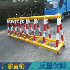定制各式圆管带刺路障防撞拒马护栏 安全围篱