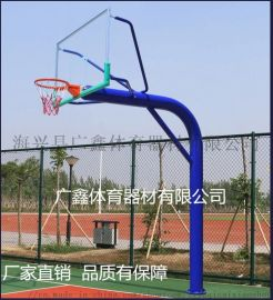 地埋式165圆管篮球架 广鑫篮球架