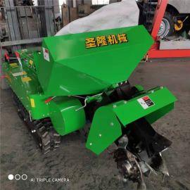 果园开沟施肥机一体机,履带式田园管理机