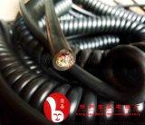 数控机床手轮线编码器螺旋电缆19芯21芯25芯30芯屏蔽亮面雾面弹簧电线伸缩线厂家