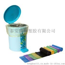 连卷彩色垃圾袋/厂家定做生产炫彩垃圾袋
