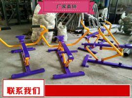 户外单人健骑机销售商 塑木健身路径批发