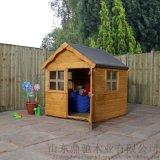 儿童小木屋幼儿园游乐场树屋组装木游戏屋房