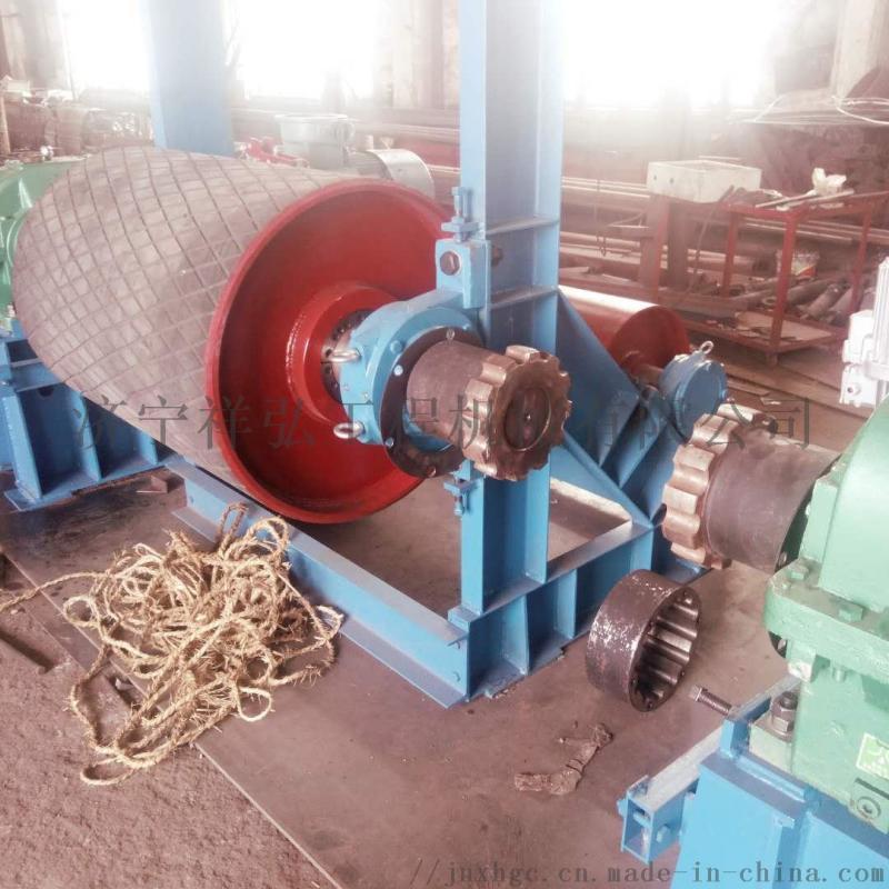 倾角胶带输送机传动滚筒 定制陶瓷传动滚筒
