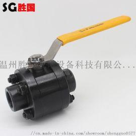 三片式手动焊接球阀 碳钢低压高压球阀