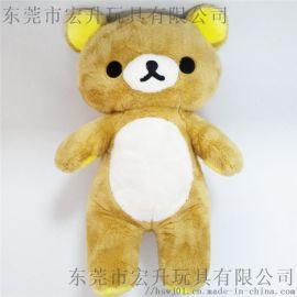 定制毛绒玩具熊可来图打样设计 OEM加工定制