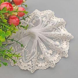 网布棉线蕾丝波浪花边网布刺绣花边轻薄裙子装饰