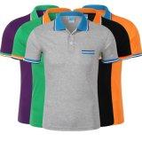 夏季短袖t恤工作服定做翻領撞色Polo衫電信營業廳導購員定製LOGO