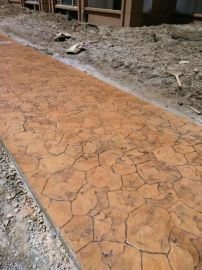 上海桓石 彩色混凝土压花地坪压模地坪材料厂家直供全国销售水泥道路压印