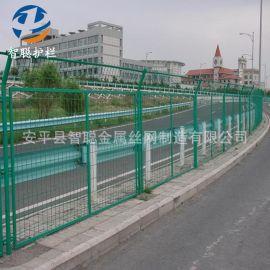 供应高速公路铁路框架护栏网双边丝圈地道路铁路护栏网隔离栅栅栏
