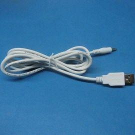 白色DC电源线 USB转DC3.5*1.35  ,USB充电线  LED台灯线
