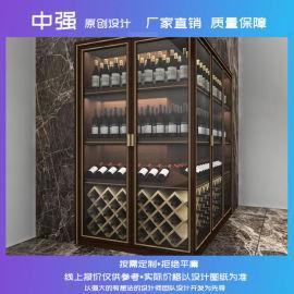 供应南京店铺装修设计红酒展柜定制厂家