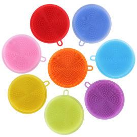 硅胶洗碗刷,双面硅胶刷,硅胶儿童沐浴刷