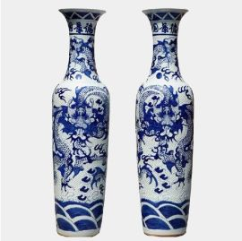 工艺礼品花瓶,景德镇青花瓷花瓶