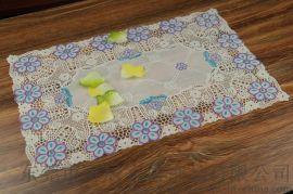 东莞可居家居烫金桌布欧式塑料pvc防水防油免洗台布餐桌布茶几蕾丝