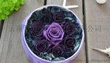 高端创意礼品情人节圣诞节生日保鲜玫瑰花永生花礼物 紫色年华