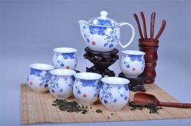 青花陶瓷茶具批发 景德镇陶瓷茶具定制厂家