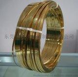 东莞半硬黄铜扁线厂家,2.0MM压延扁铜线,深圳H65黄铜扁线报价