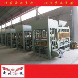 宏展机械QT4-15免烧砖机生产线 免托板砖机 面包砖机