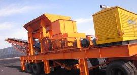 新疆移动式碎煤机 移动箱式破碎机