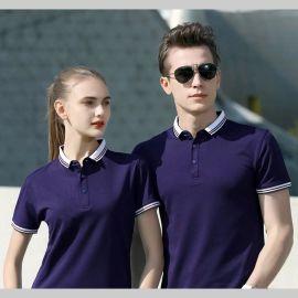 夏季有翻领POLO男女短袖上衣T恤衫 情侣装半袖工作服定制印字LOGO