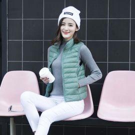 冬季新款马甲韩版修身立领羽绒白鸭绒衣服大码男装马夹外套工作服