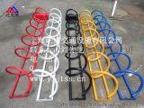 圓環形自行車架 黃色螺旋形自行車停車架