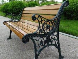 现货供应 12条木公园椅 铸铁休闲长椅