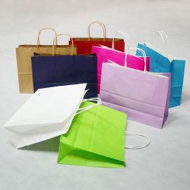 企业采集横版牛皮纸袋定做服装袋包装袋手提袋礼品袋定制衣服袋子批发