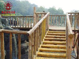 玉溪防腐实木栏杆厂家,河道护栏定制