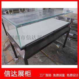 不锈钢珠宝陈列柜产品展览柜 透明玻璃展示柜