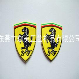 硅膠商標 PVC膠章 手袋箱包廠商標  軟膠商標