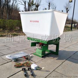 拖拉机前置扬肥机电瓶连接化肥抛洒机